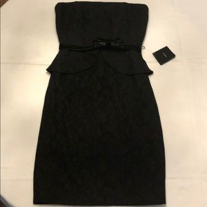 Black House White Market Black Cocktail Dress SZ 2